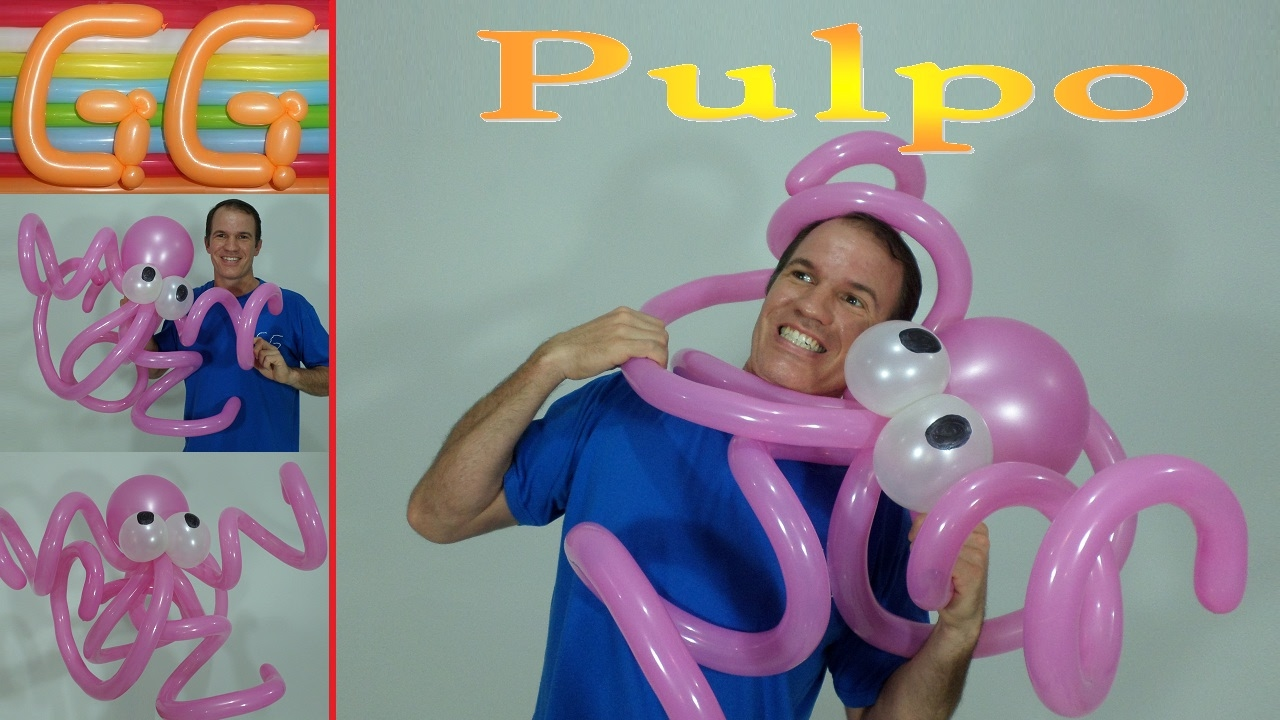 Como hacer un pulpo con globos globoflexia facil - Hacer munecos con globos ...