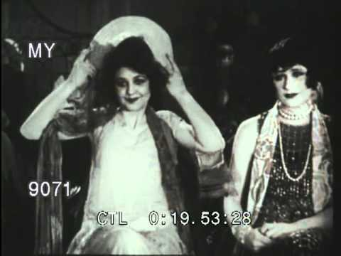 Stock Footage  1920s Fashion Show