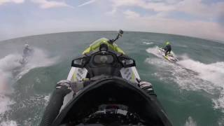 Brighton Jet Ski Jumping , sea doo rxp 300 wave jumping in sussex marine