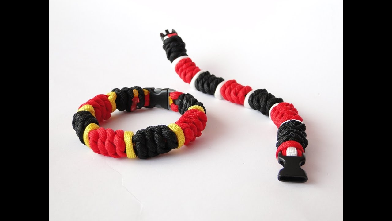 How To Make The Coral Snake Paracord Bracelet Three Color West