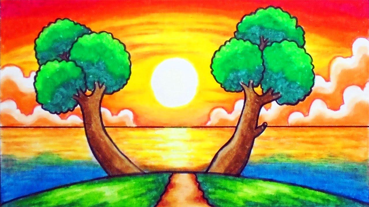 Gambar Lukisan Hubungan Manusia Dengan Alam Sekitar Cikimm Com