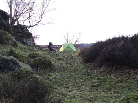 Stormy Solo Wildcamp on North Yorkshire Moors. Feb 2018