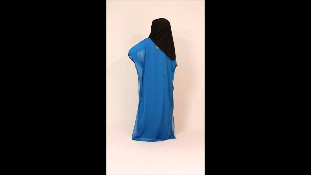Robe de soiree bleu et noir