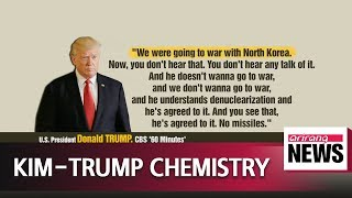 Trump says he has 'good chemistry' with Kim Jong-un, touts achievements made with N. Korea
