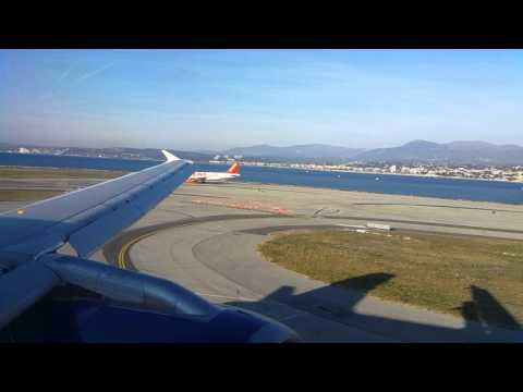 British Airways landing in Nice