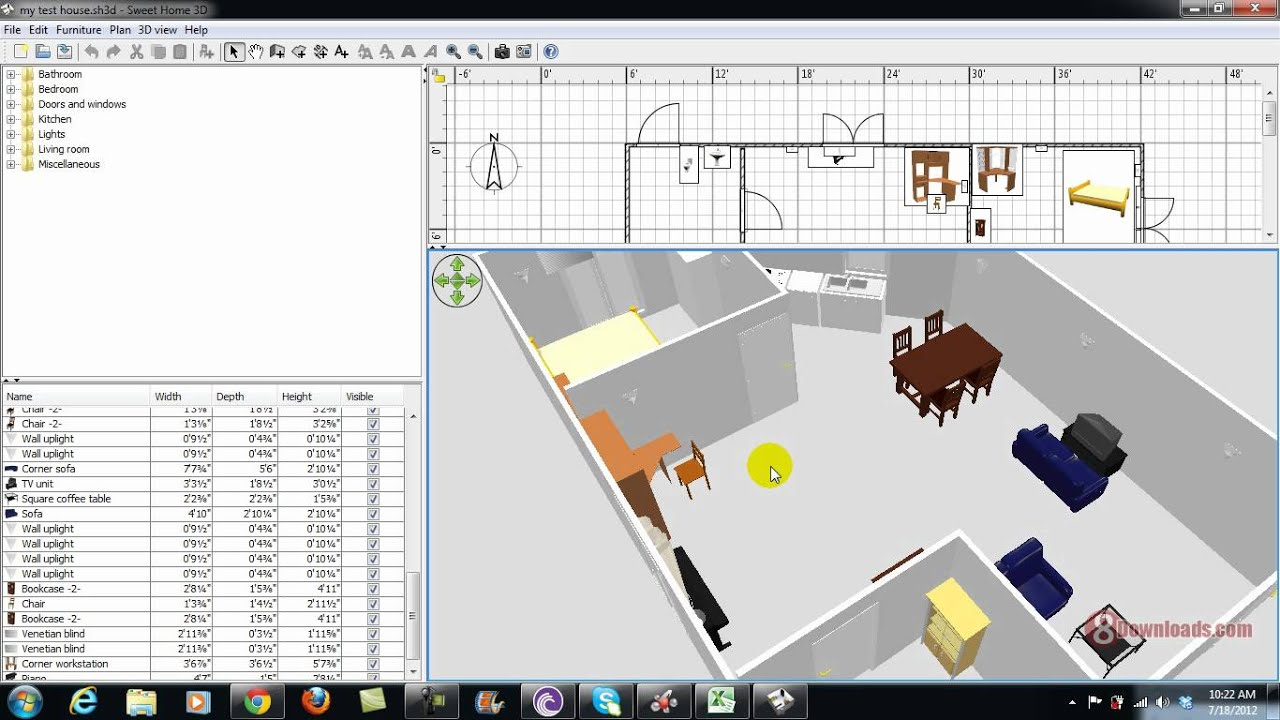 free house plan software sweet home 3d youtube