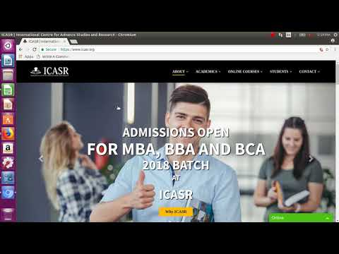 ICASR MBA Admissions 2018 2019 Process