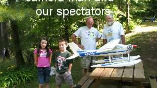 ARC Model Airplne Cessna 177 Cardinal Float Flying