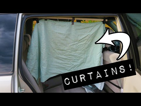 Easy And CHEAP DIY Privacy Curtains For A Van, SUV, Car, Truck, Etc.