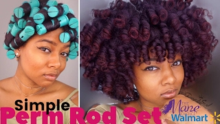 Simple Perm Rod Set + Night Routine| Natural Hair UPDATED | The Mane Choice Pink Lemonade & Coconut