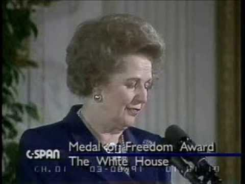 Thatcher Recieves Medal Of Freedom