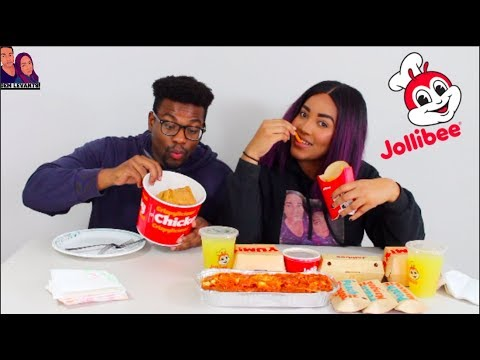 TRYING JOLLIBEE FOR THE FIRST TIME MUKBANG/EATING SHOW!!!!