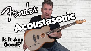 Fender Acoustasonic Telecaster - Sonic Gray - 2020 Review