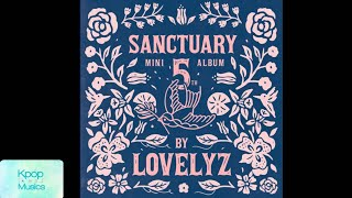 Lovelyz (러블리즈) ('the 5th mini album'[sanctuary]) audio track list: 1. never ending 2. lost n found (찾아가세요) 3. like u 4. rewind 5. rain 6. daydream (백일몽) 7. f...