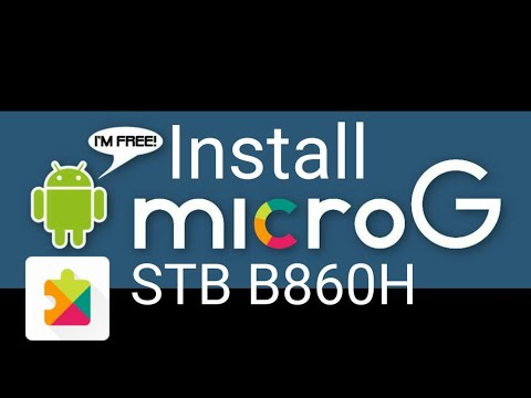 Install microG service B860H sekalian disable update playstore