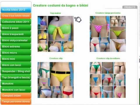 creatore bikini costruisci il tuo costume da bagno ideale