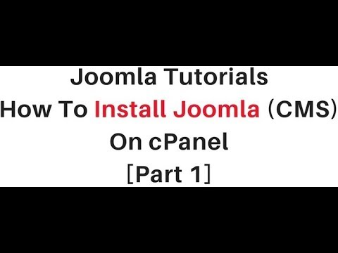 How To Install Joomla (3.8.1, 2.5.28) On CPanel
