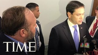 Marco Rubio And Alex Jones Clash on Capitol Hill | TIME