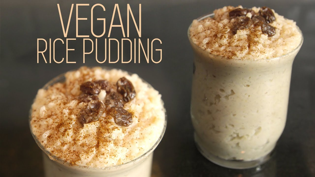 How to Make VEGAN RICE PUDDING - Tutorial for Healthy