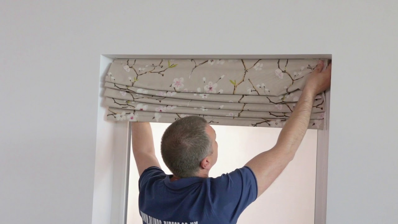 4 How To Install Roman Blinds Youtube