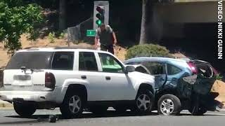 WATCH: SUV Continuously Rams Parked Vehicle In Alleged Sacramento Road Rage