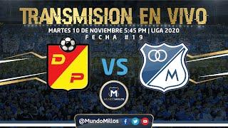 Pereira Vs MILLONARIOS FECHA #19 Liga 2020 | Transmisión EN VIVO