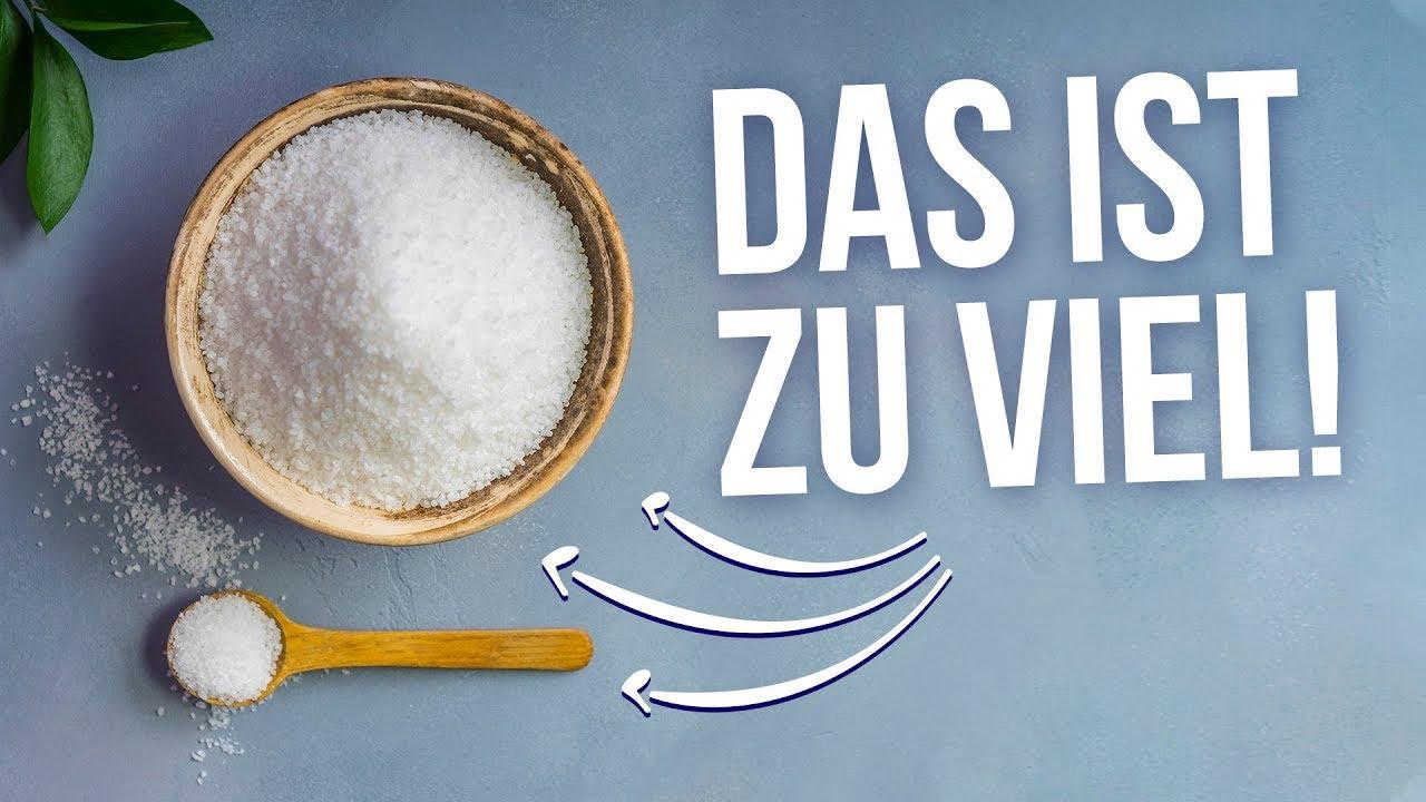 Iss jeden Tag 5 Gramm Salz - mehr kann schlimme Folgen haben! [Q&A #3]