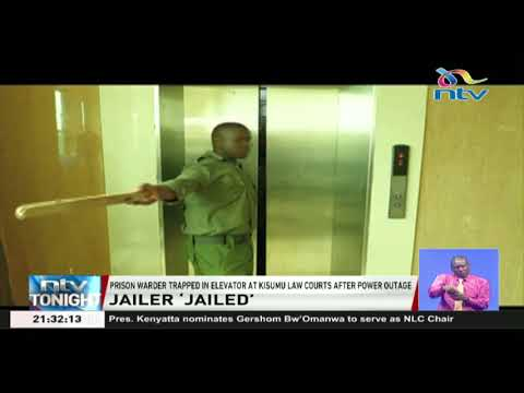 Prison warder trapped in elevator at Kisumu Law Courts after power outage