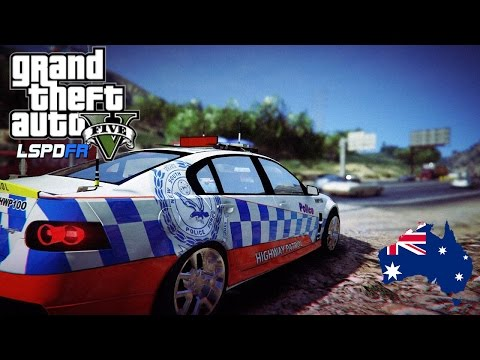 GTA 5 - NSW Police Mod - Highway Patrol HSV! (Play GTA V as a cop mod for PC) #OZGTA