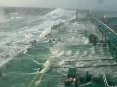 Full Loaded Oil Tanker In Storm