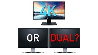 4K Monitor vs Dual Monitors: What