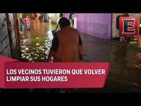 Desfogue de presa El Ángulo provoca inundaciones en Cuautitlán Izcalli