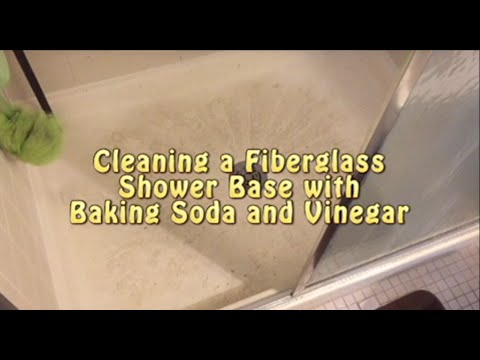 Cleaning Shower Base With Baking Soda And Vinegar Youtube