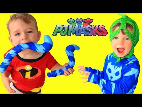 PJ Masks Catboys Tail DISAPPEARS! Incredibles 2 Jack Jack Trouble