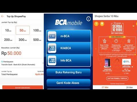Cara Top Up Shopeepay Lewat M Bca Mobile Youtube