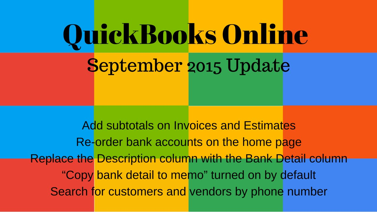 QuickBooks Online September Update Add Subtotal On Invoice - Quickbooks invoice subtotal