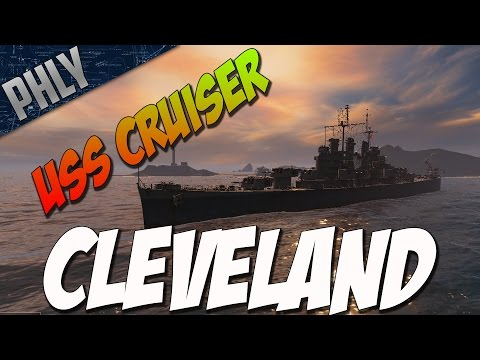 World Of Warships Gameplay - Cleveland Class! The DPM Is Amazing!