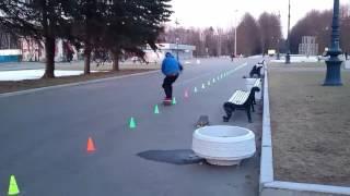 19.04.2017 Слаломный скейтборд обучение. Владимир 1