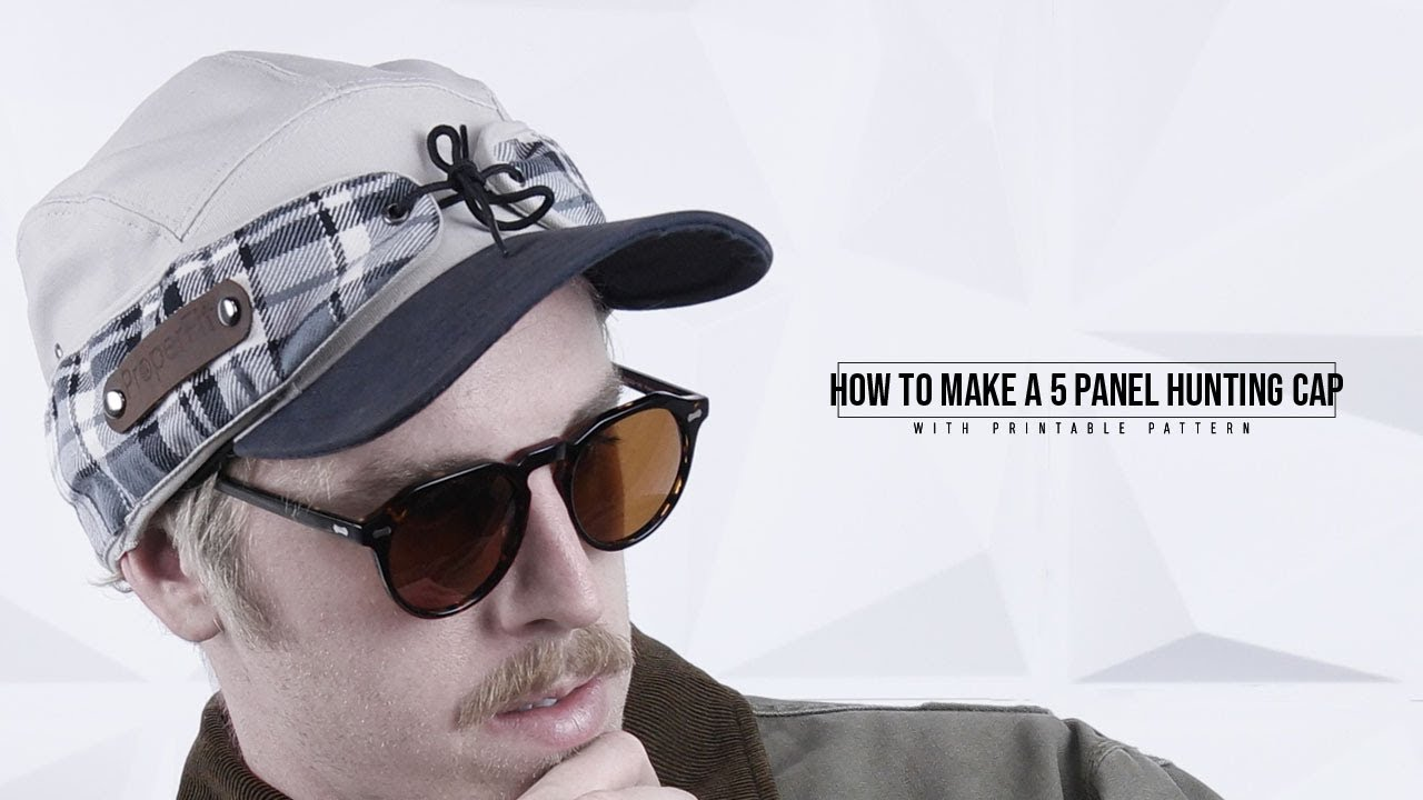fc2239235af63 How to Make a 5 Panel Hunting Cap - YouTube