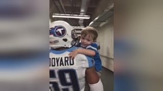 2-Year-Old Detroit Lions Fan Gets 'Carried Away' Giving High-Fives to the Titans