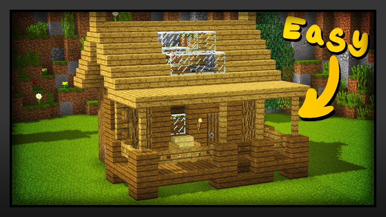 Minecraft How To Build A Easy Survival Starter House Youtube
