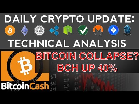 BITCOIN COLLAPSE!? BCH UP 40% (11/11/17) Daily Crypto Update + Technical Analysis
