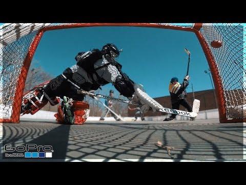 GoPro Hockey   PLAYING GOALIE?!