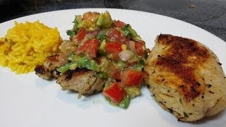 Cilantro Lemon Chicken With Tomato & Avocado Salsa