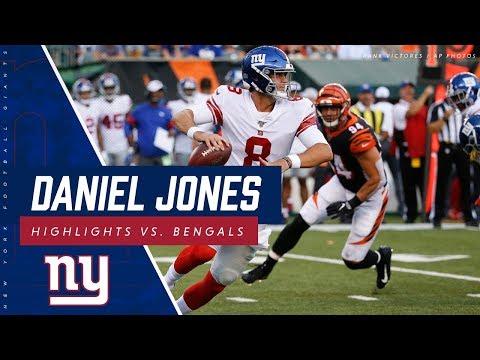 Daniel Jones Preseason Highlights Giants vs. Bengals