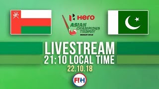 Oman v Pakistan | Men's 2018 Hero Asian Champions Trophy | FULL MATCH LIVESTREAM thumbnail