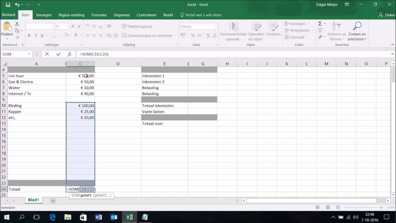 Maak Een Simpele Administratie In Excel