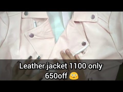 4ba5bea7a Club Factory women leather jacket, belle and bags review with discount code  3629816 😍 - YouTube