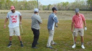 Epic Shotgun Trick Shots| Bryan Bros Golf