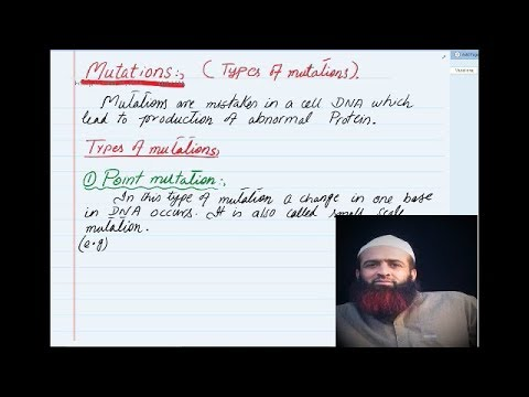 Quetta tv, Biochemistry, DNA mutation and its types  urdu/hindi